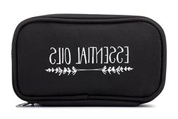"""Essential Oil Carrying Case - Black """"Lavender Branches"""" –"""