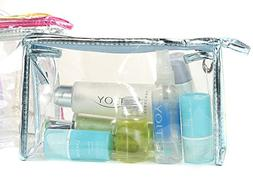 Newest trent Clear Vinyl Zippered Cosmetic Makeup Bag Case T