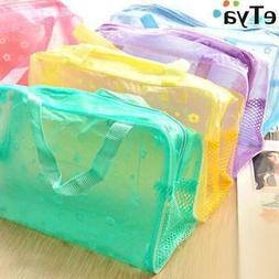 eTya Fashion Makeup Bag PVC Floral Transparent  Cosmetic Bag