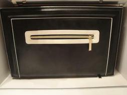 Estee Lauder Faux Cosmetic Makeup Bag Travel Train Case With