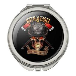 Firefighter Skull First In Last Out Fireman Compact Travel P