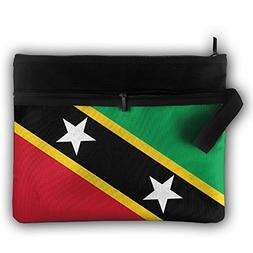 Flag Of Saint Kitts And Nevis Cute Trip Toiletry Bag Travel