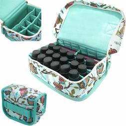 Floral Canvas Makeup Bag Essential Oil Storage Carrying Bags