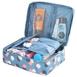 HiDay Floral Print Cosmetic Makeup Bag Travel Toiletry Organ