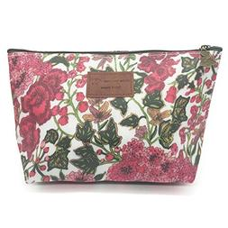 HUNGER Floral Print Make-Up Cosmetic Tote Bag Carry Case, 14