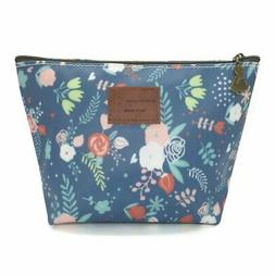 HUNGER Flower Leaves Make-Up Cosmetic Tote Bag Carry Case ,