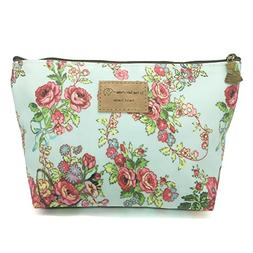 HUNGER Flower Print Make-Up Cosmetic Tote Bag Carry Case , 1