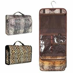 Foldable Cosmetic Makeup Tote Carry Bag w/Hanging Hook for C