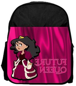 "Future queen pink 14"" x 12"" Small Backpack and 4.5"" x 8.5"" P"
