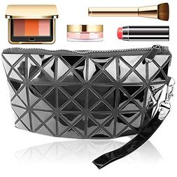Geometric Design Cosmetic Makeup Bag - Travel Make Up Organi