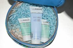AHAVA Gift Set w Makeup Beauty Bag Body Lotion Hand Cream Mu