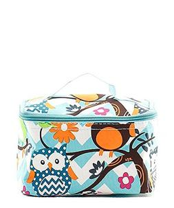 N Gil Teal Owl Makeup Bag