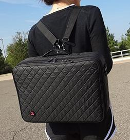 Professional On The Go Makeup Train Case Cosmetic Travel Sto