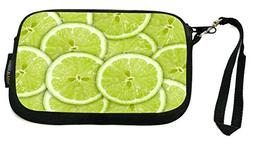 Rikki Knight green background with citrus-fruit of lime slic
