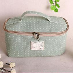Green Travel Storage Packing Organizers, Makeup Cosmetic Bag