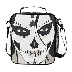 LORVIES Halloween Guy Makeup Style Lunch Tote Bag Insulated