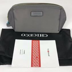 CHICECO Handy Cosmetic Pouch Clutch Makeup Bag Dark Gray Nyl