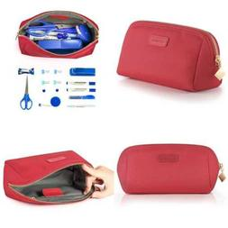 CHICECO Handy Cosmetic Pouch Clutch Makeup Bag ROSE RED MEDI