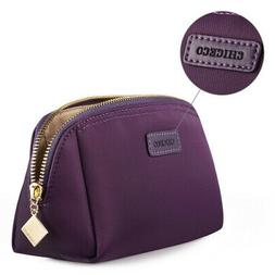 CHICECO Handy Cosmetic Pouch Clutch Makeup Bag - Dark Purple
