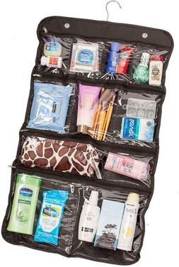 Hanging Cosmetic Bag, Toiletry Travel Organizer, 10 Pocket P