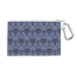 Haunted Mansion Wallpaper Canvas Zip Pouch - Medium Canvas P