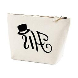 His Tophat Icon His And Hers Matching Set Makeup Bag Wash Tr