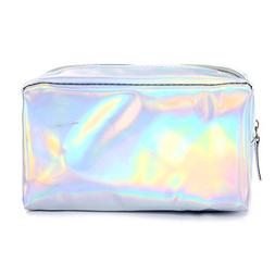Andear Womens Hologram Shiny Wallet Clutch Purse PU leather