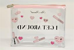 Too Faced I Get Around Clear Makeup Bag Cosmetic Tote Airpla