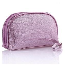 IebeautyGlitter Gold Purple Pink Sequined Purse Small Cosmet