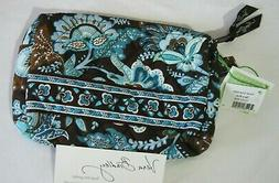 Vera Bradley JAVA BLUE Small COSMETIC MAKEUP Purse CASE for
