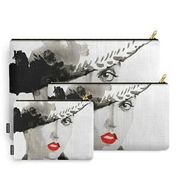 Society6 Girl Jazz 2 Carry-All Pouch Set of 3