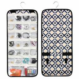 Jewelry Makeup Tote Carry Travel Bag Organizer Hanging Roll