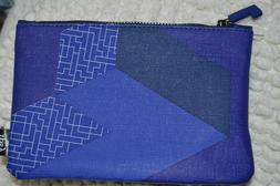 Ipsy June 2019 Glam Bag TETRIS BLUE Makeup Pouch Cosmetic BA
