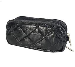LeSportsac Kevyn Cosmetic Make Up Case, Black Crinkle Quilte