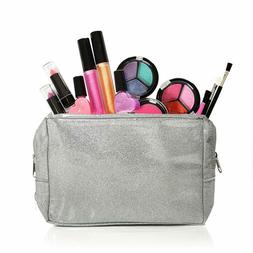 Iq Toys Kids Washable Makeup Set With A Glitter Cosmetic Bag