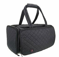 Kiota Quilted Tote Beauty Duffel Cosmetic Makeup Travel Bag