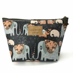 HUNGER Kiss Elephant Print Make-Up Cosmetic Bag Carry Case ,