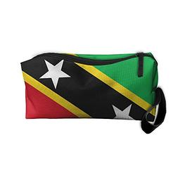 YangQxio St.Kitts And Nevis Large Flag Portable Cosmetic Mak