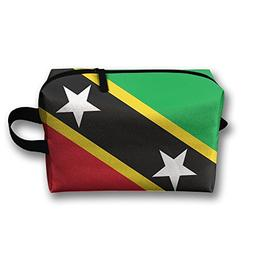 Leisue St.Kitts And Nevis Large Flag Cosmetic Bag Zipper Mak