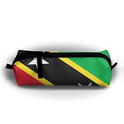 FJSLIE St.Kitts And Nevis Large Flag Oxford Storage Bags Por