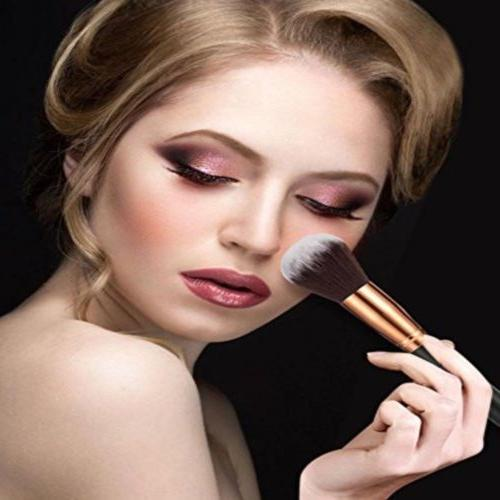 10Pcs Makeup Powder Foundation Cosmetic Brushes Tool W/