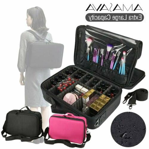 1200d oxford makeup train case cosmetic organizer