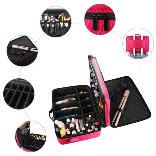 "16"" Cosmetic Bag Women Organizer Storage"