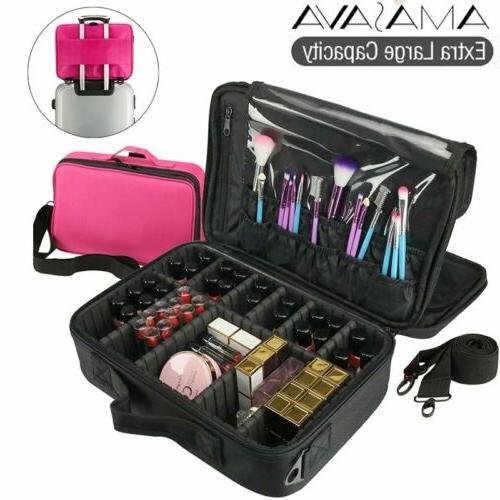 16inch makeup train case cosmetic travel storage