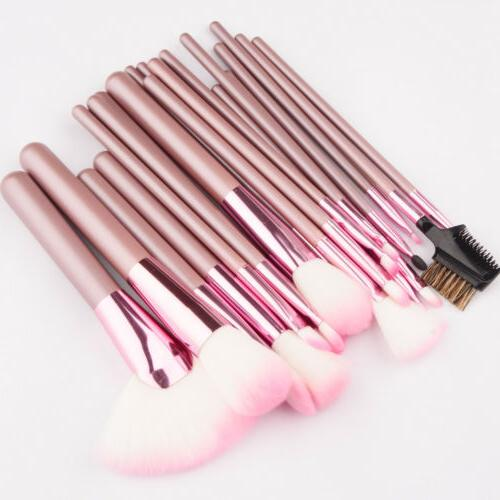22pcs/set Professional Cosmetic Brush Brushes with Bag Pink