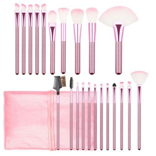 22pcs/set Professional Brush Brushes Bag Pink