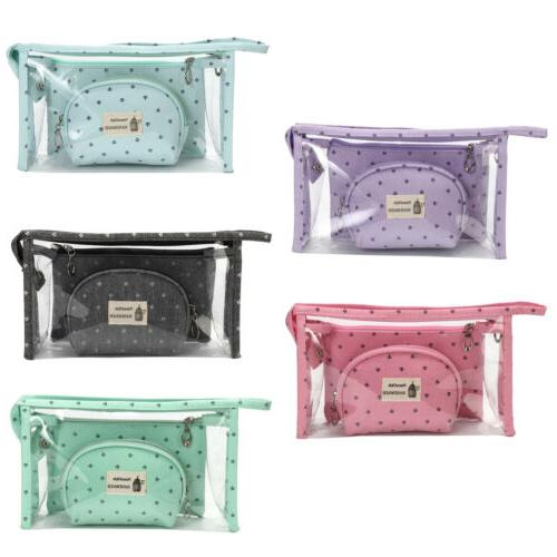 3pcs/set Cosmetic Bags Waterproof Neceser Make Up Bag Pouch