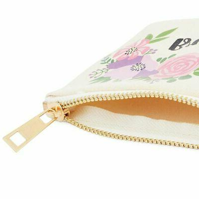 3x Floral Bags with Zipper for Pen