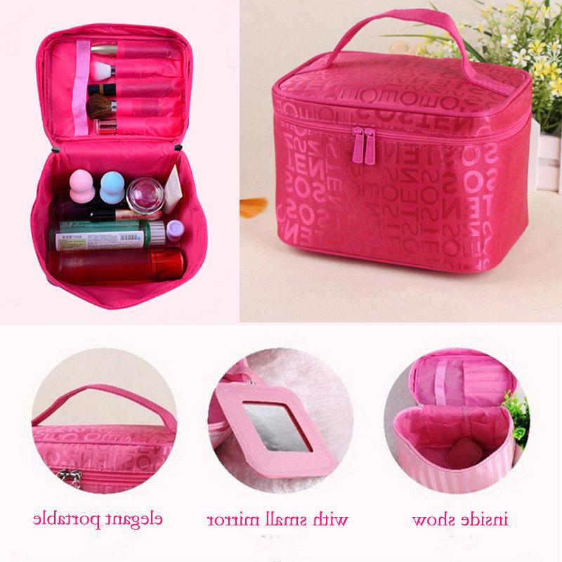 5 colors 2019 Women <font><b>Makeup</b></font> Cosmetic <font><b>Bags</b></font> Women Ladies Case Cosmetics Organizer <font><b>Bag</b></font> Wash Pouch