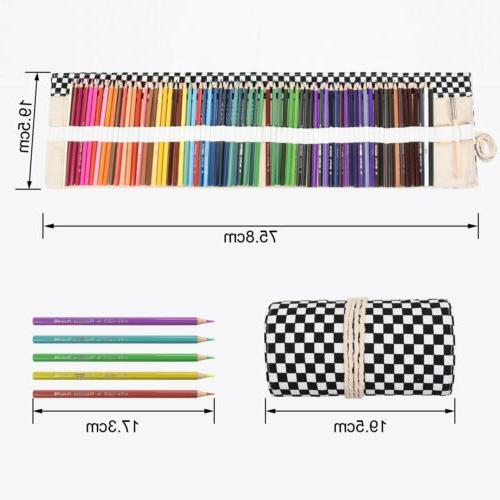 72 Bag Wrap Roll Up Pen Cosmetics Pouch Pocket